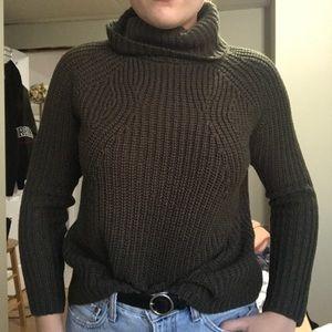Dark Green Mock Neck Sweater